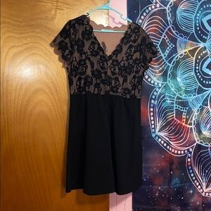 Maurice's black fit and flare dress
